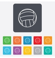 Volleyball sign icon beach sport symbol vector