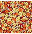 Seamless spring floral ornament on red background vector