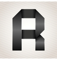 Letter metal ribbon - r vector