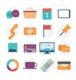 Modern flat icons collection web design objects vector