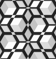 White 3d cubes with hexagonal net on seamless vector