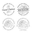 Design of logo for wine vector