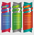 Vertical banner with number eps10 vector
