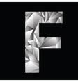 Crystal letter f vector