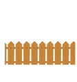 Wooden boards fence seamless vector