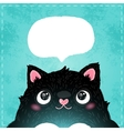 Card with cute fat cat vector
