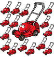 Lawn mower with face vector