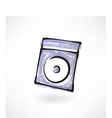 Compact disk grunge icon vector