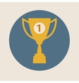 Trophy cup icon flat design concept-winning vector