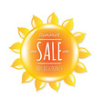 Summer sale banner with symbol sun vector