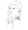 Young woman with piercing and tattoo vector