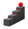 Team training solution stairs 3d vector