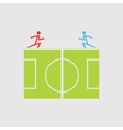 Soccer field - vector
