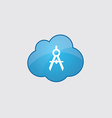 Blue cloud compasses icon vector