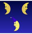Serious moons set vector