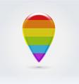 Rainbow point for digital map vector