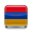 Metal icon of armenia vector