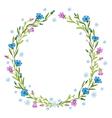 Floral wreath composition vector
