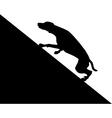 Dog runs uphill vector