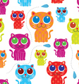 Cute cat seamless pattern vector