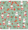 Vintage christmas seamless pattern vector