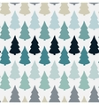 Seamless pattern with abstract christmas tree vector