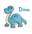 Funny blue dino vector