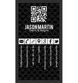 Creative black vertical business card vector