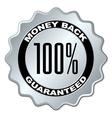 Money back guaranteed label vector
