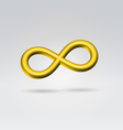 Golden metal infinity sign vector