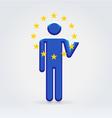 European union symbolic citizen icon vector
