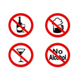 No alcohol sign icon vector