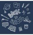 Back to school supplies doodles vector