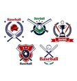 Colored baseball emblems and badges vector