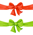 Red and green bow isolated on white background vector
