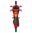 A topview of a motor bike vector