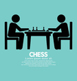 Chess player sign vector
