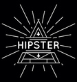 Linear abstract hipster logo template - magical vector