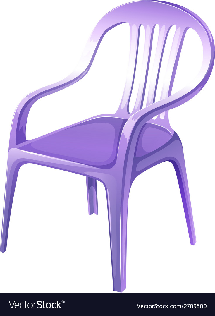 A purple plastic chair vector | Price: 1 Credit (USD $1)