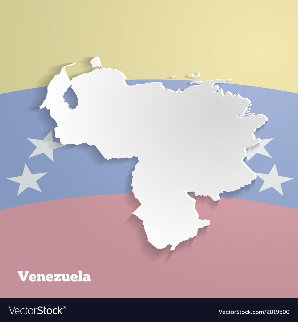 Abstract icon map of venezuela vector | Price: 1 Credit (USD $1)