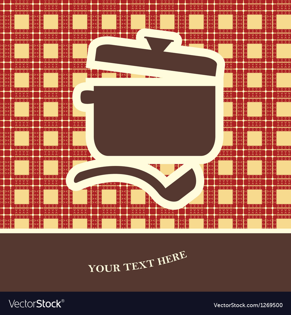 Cookery card vector | Price: 1 Credit (USD $1)