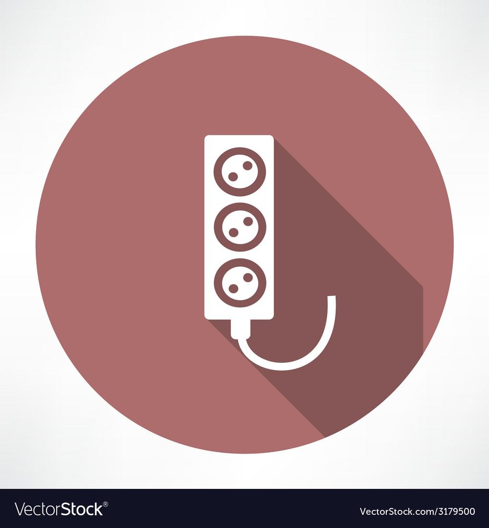 Extension cord icon vector   Price: 1 Credit (USD $1)