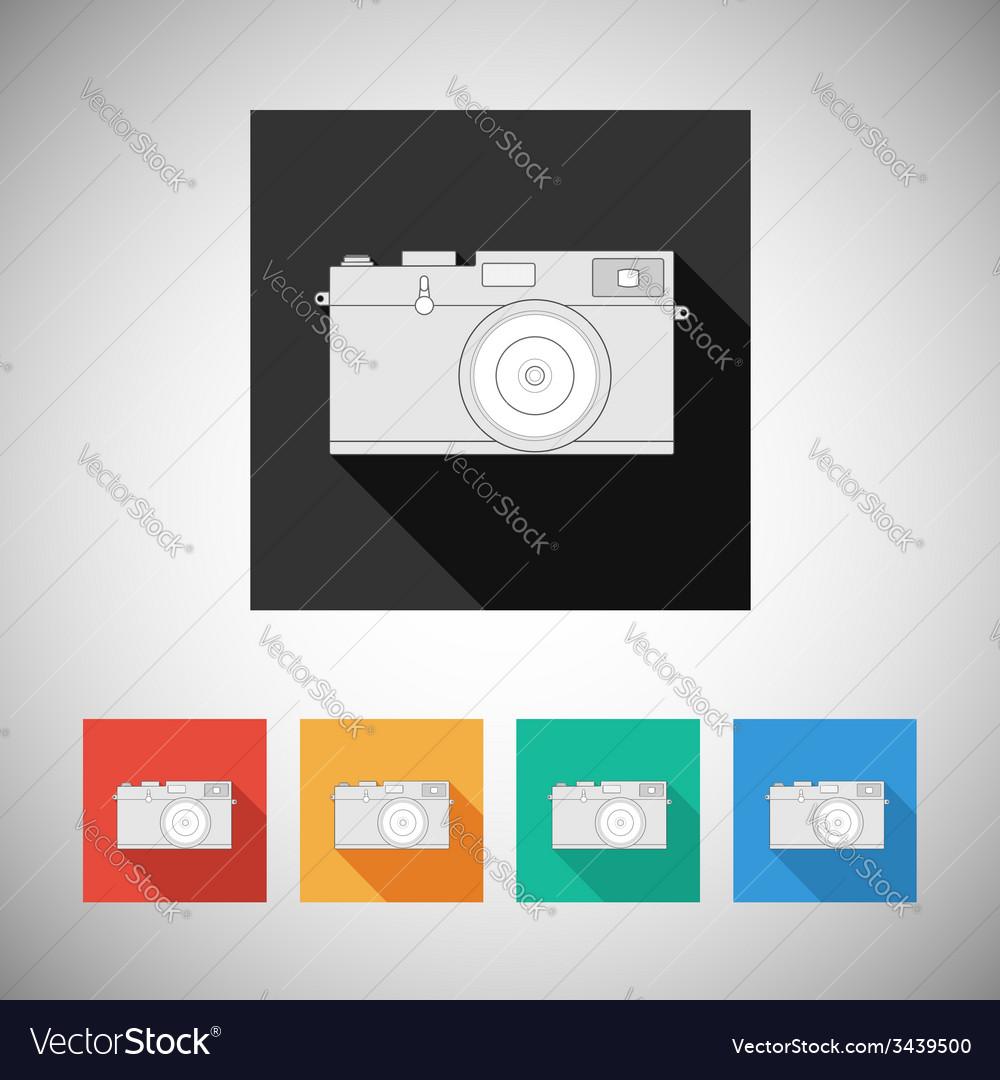 Film camera icon on square background vector | Price: 1 Credit (USD $1)