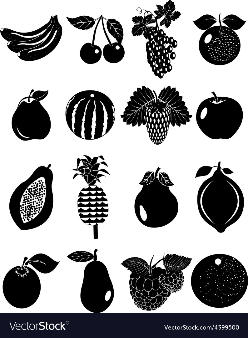Fruits icons set vector   Price: 3 Credit (USD $3)