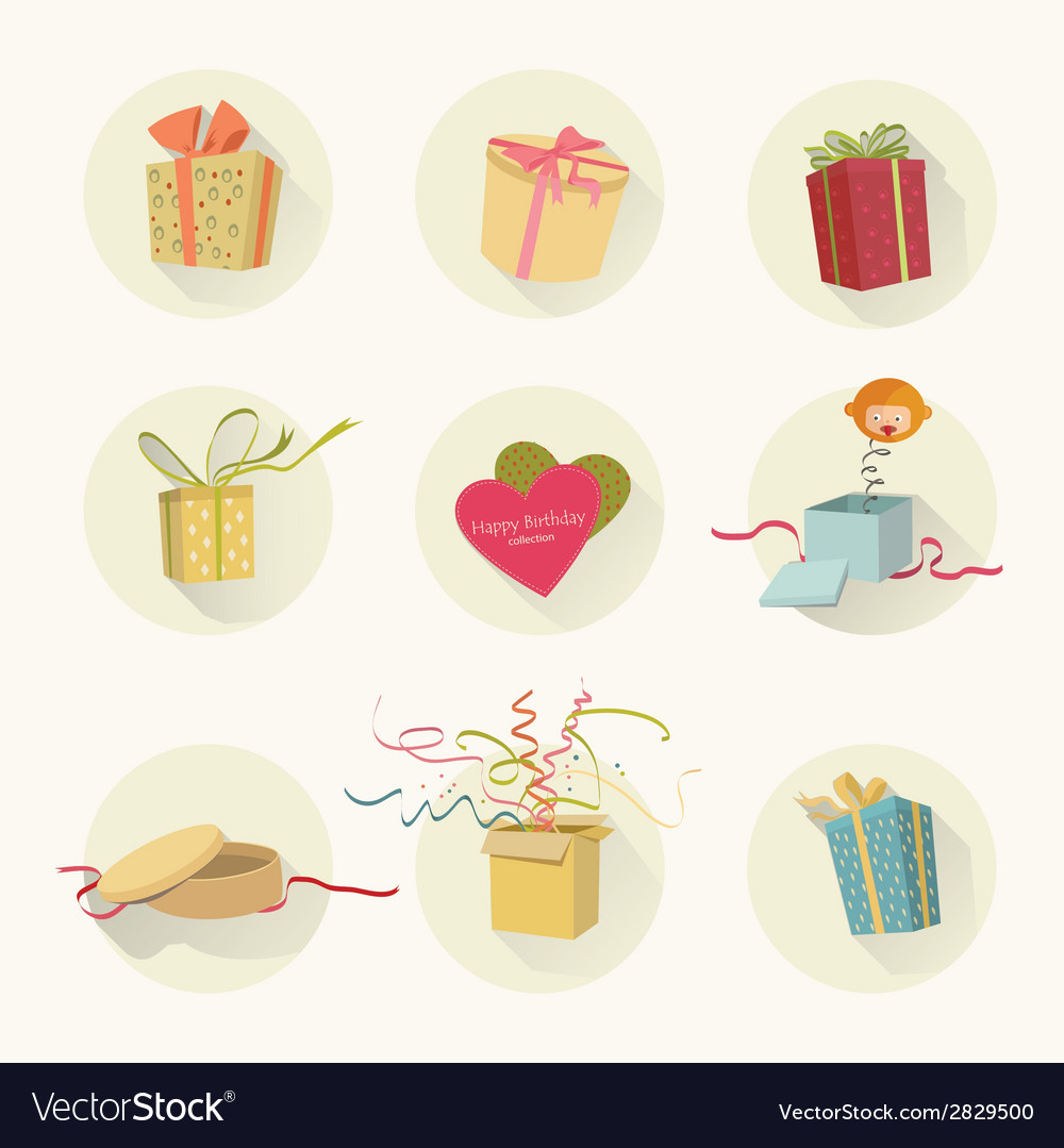 Gifts set vector | Price: 1 Credit (USD $1)