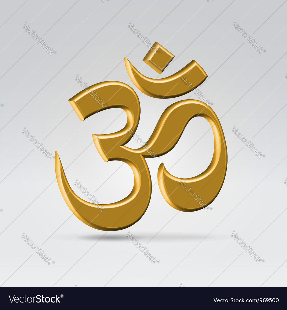 Golden om sign vector | Price: 1 Credit (USD $1)