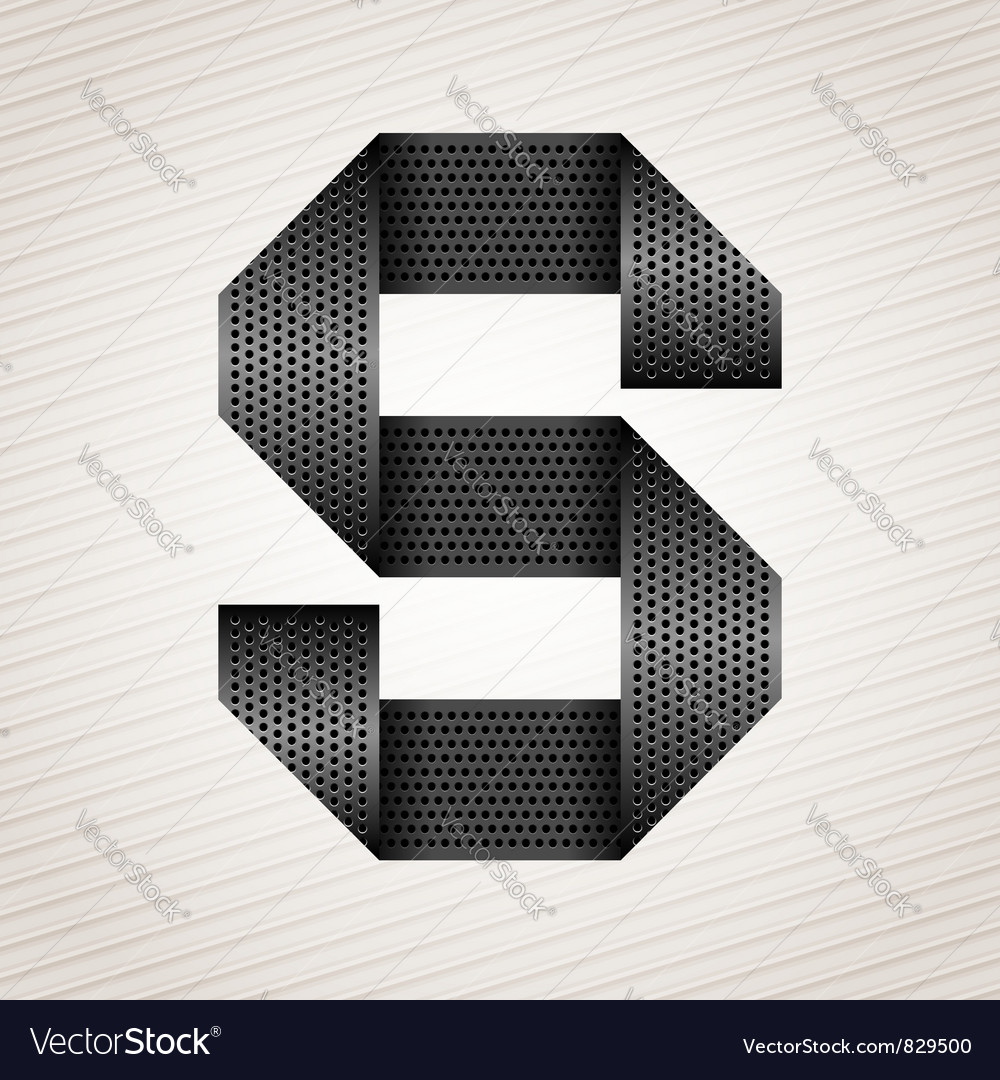 Letter metal ribbon - s vector | Price: 1 Credit (USD $1)