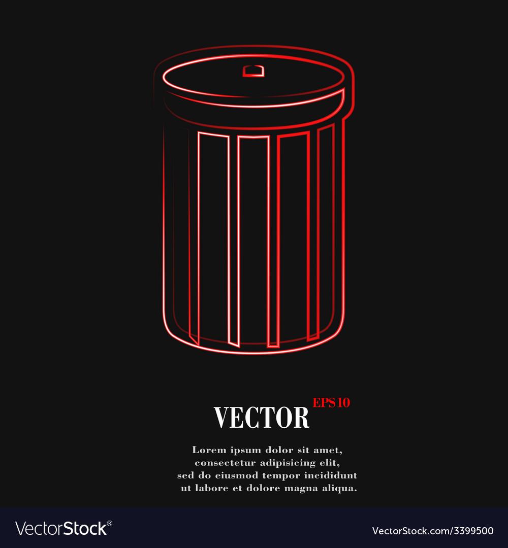 Recycle bin icon symbol flat modern web design vector | Price: 1 Credit (USD $1)