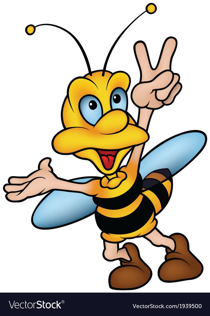 Wasp gesturing victory vector | Price: 1 Credit (USD $1)