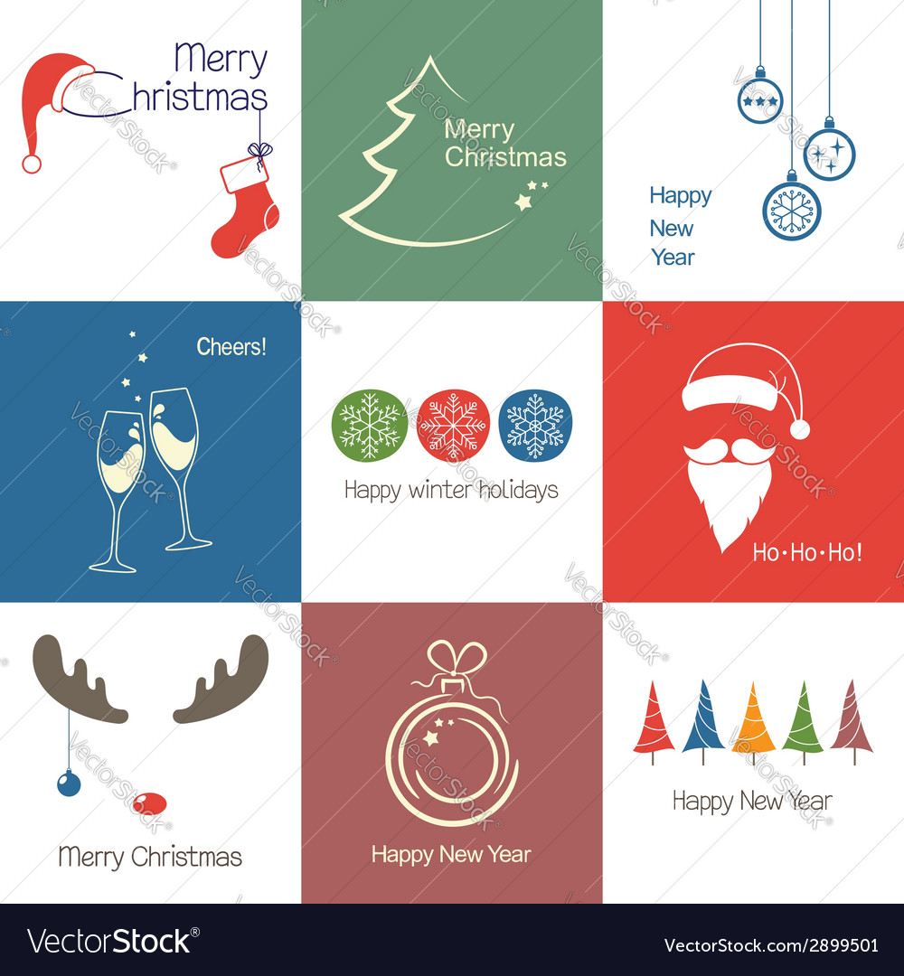 Christmas icons vector   Price: 1 Credit (USD $1)